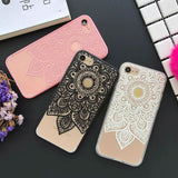 iphone accessory - Fashion accessories ,clothing, jewelry, Beautiful Datura Floral Phone Cases For Apple iphone 6 6S 7 7 Plus Soft Silk Cover Classic Lace Mandala Flower Fundas YC2117 - clothing, Gorgeous things online - gorgeous things online
