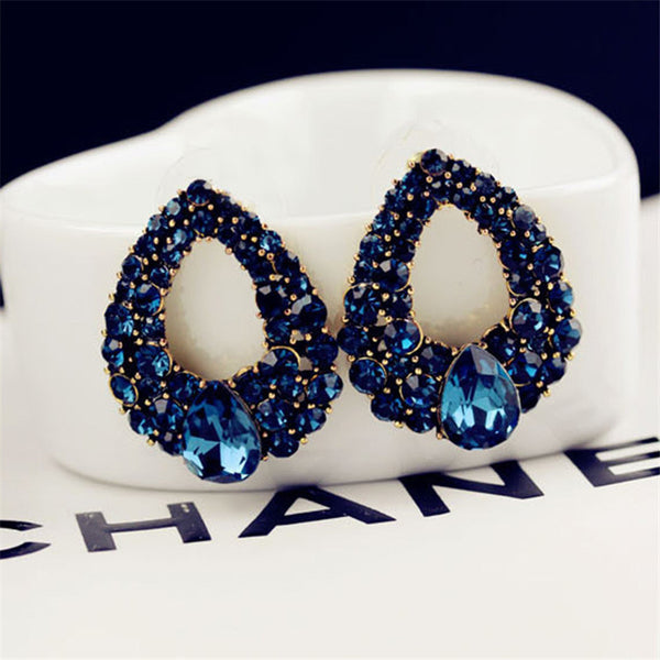 - Fashion accessories ,clothing, jewelry, European and American High-end Boutique Earrings Unique Design Droplets Sapphire Earrings - clothing, Gorgeous things online - gorgeous things online