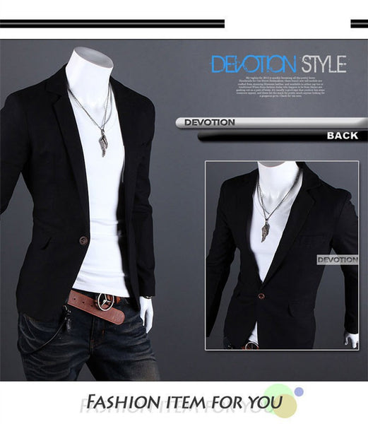 Menswear - Fashion accessories ,clothing, jewelry, 2015 New Arrival Single Button Leisure Blazers Men Male Fashion Slim Fit Casual Men Suit  Solid Blazer Dress Clothing  6 Colors - clothing, Gorgeous things online - gorgeous things online
