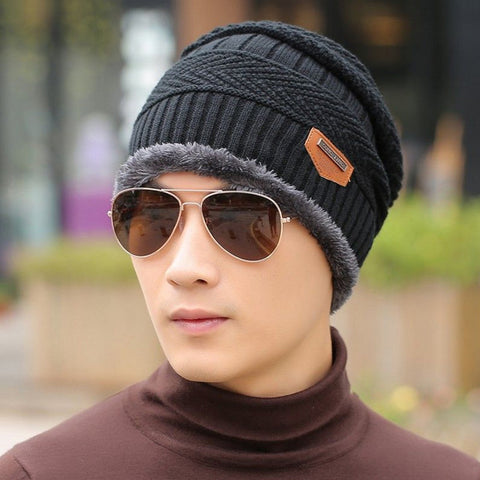 2016 New Fashion Winter Warm Knit Hat Autumn Winter Men Women High Quality Baggy Wool Knitted Hats 5 Colors