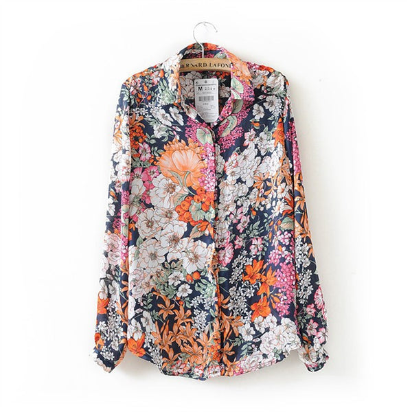 - Fashion accessories ,clothing, jewelry, 2015 Wholesale Free Shipping New Arrival Fashion Printed Long Sleeve Printed Women's Shirt Casual Chiffon Blouse - clothing, Gorgeous things online - gorgeous things online