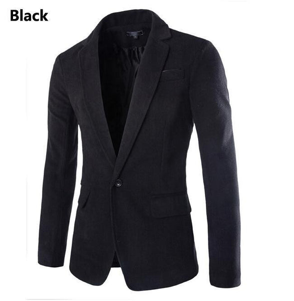 Men Blazer 2015 New Arrival One Button Blazer Men Casual Slim Fit Jacket Man Long Sleeve 4 Colors Suits Blazer Masculino