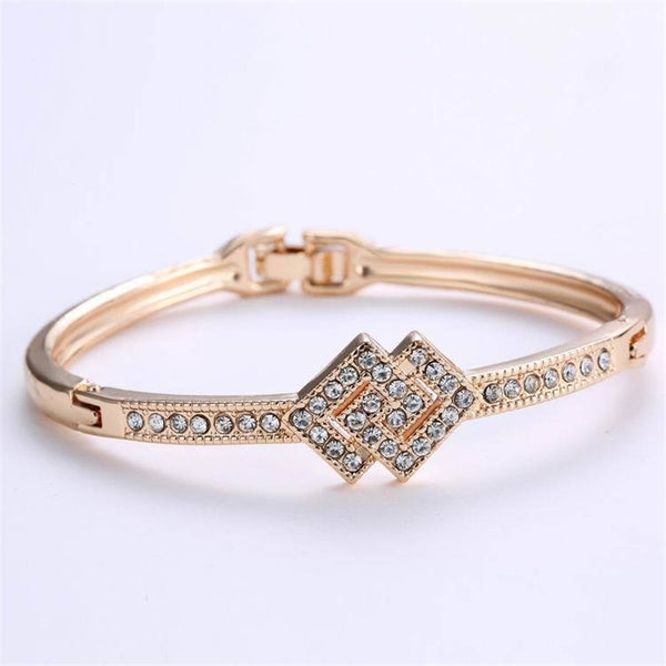 Top Quality Wholesale Flash Gold Plated Bracelets Femme Bridal Wedding Jewelry Gift