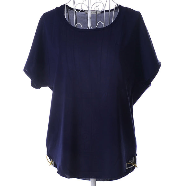 Thick Section Free Size 2015 New Fashion Casual Style Solid Color Short Batwing Sleeve Chiffon Female T/Blouse 20 Colors