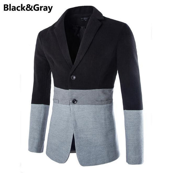 Hot Sale Business Casual Suit Men Blazers Set Professional Form Long Sleeve Patchwork Design Men's Single Breasted Blazer Suit