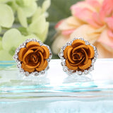 Multicolor Rose Earrings