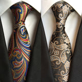 "- Fashion accessories ,clothing, jewelry, Factory Hot Novelty 3.1"" Classic Mens Ties woven 100% Silk Colorful Paisley Jacquard Woven Wedding Party Prom necktie Neck Tie - clothing, Gorgeous things online - gorgeous things online"