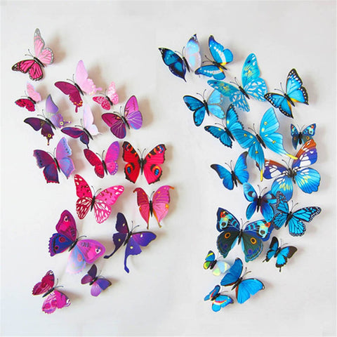 wall decor - Fashion accessories ,clothing, jewelry, 12 pcs Magnet 3D Butterfly Art Wall Stickers Home Decals Party Decorations 2017 - clothing, Gorgeous things online - gorgeous things online