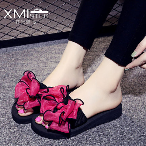 slippers - Fashion accessories ,clothing, jewelry, 2017 New Summer bohemia Women sandals slippers fashion rainbow leopard muffin sandals home shoes wedge heels beach sandals - clothing, Gorgeous things online - gorgeous things online
