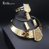 11.11 Fashion Dubai gold plated African Nigeria Jewelry wedding exaggerate necklace Earrings of woman Bridal Jewelry sets