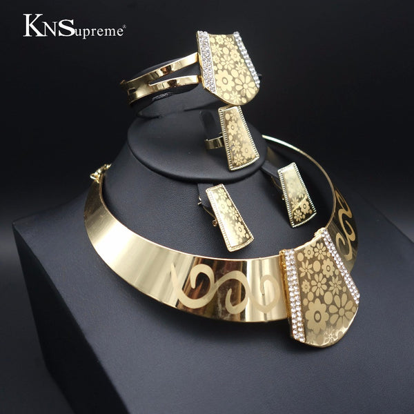 - Fashion accessories ,clothing, jewelry, 11.11 Fashion Dubai gold plated African Nigeria Jewelry wedding exaggerate necklace Earrings of woman Bridal Jewelry sets - clothing, Gorgeous things online - gorgeous things online