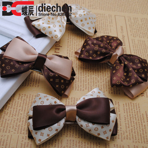 1pc high quality 2015 new fashion silk satin ribbon bows hairpins hair clips korean style barrettes women headwear accessories