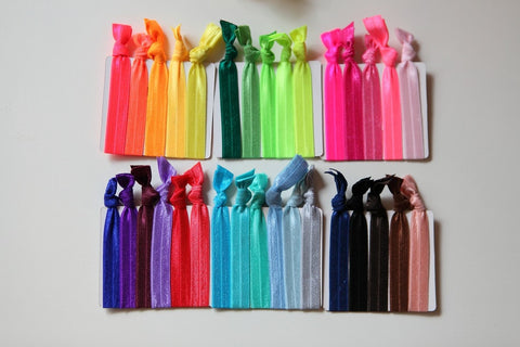 100 Pcs/lot Wholesale Candy Color Ponytail Holders twist yoga Ribbon Elastic Bands/ Hair Ties Hair Accessories mix colors