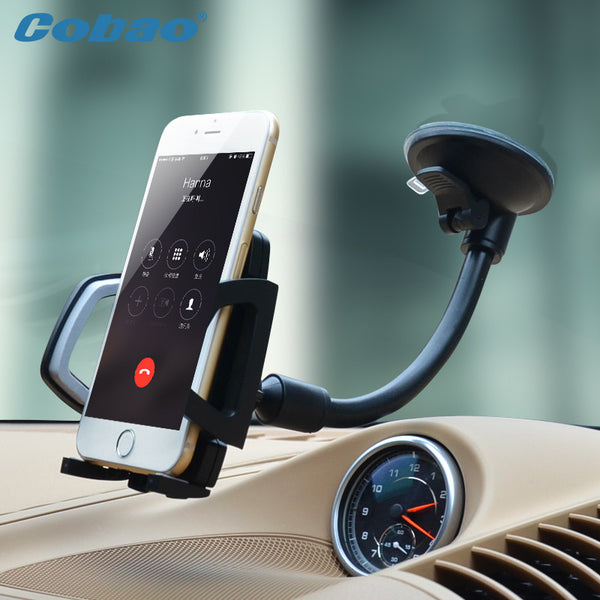 Universal Mobile phone holder Long Arm Car Windshield Phone Holder Mount Cradle Suction Cup Stand soporte movil for iPhone 6 6S