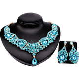 - Fashion accessories ,clothing, jewelry, 9 Colors Choice,Hot Sale African Jewelry Set Czech Rhinestone Crystal Choker Necklace Earrings Bridal Jewelry Sets For Wedding - clothing, Gorgeous things online - gorgeous things online