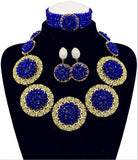 Fashion New Dubai Gold Plated Disc Jewelry Set Bridal Jewelry Sets Statement Necklace African Beads Jewelry Set Free Shipping