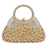 LaiSC new women evening bags chain luxury crystal clutch bags handle Diamond party purse ladies wedding bags prom handbags SC217