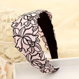 New Fashion Style Broadside Cloth Rose Flower Headband Hairbands Wide Hair Accessories