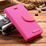 Leisure Women Man Stand Wallet Flip Case For iPhone 6 7 Fashion Hit Color Card Slot Leather Cover For iPhone 7 6s Plus With Logo