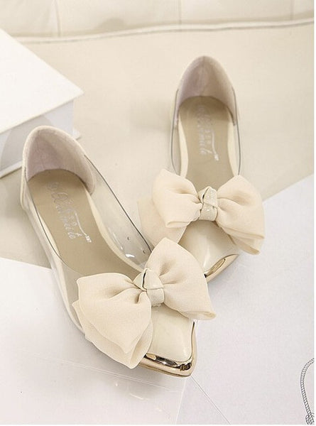 2016 new spring summersweet women flats,pointed sequined toe with big bowtie shoes for women,cansual shoes free shipping