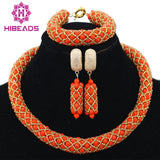 jewelry set - Fashion accessories ,clothing, jewelry, 2016 Smart Nigerian Wedding African Beads Jewelry Sets Costume African Crystal Beads Necklace Jewelry Sets Free Shipping AMJ474 - clothing, Gorgeous things online - gorgeous things online