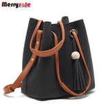 Tassel bag shoulder bag messenger bag women leather handbags 2017 women bag