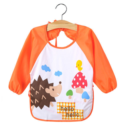 baby bip - Fashion accessories ,clothing, jewelry, Baby Feeding Bibs Waterproof Smock Bib Cartoon Long Sleeve Toddler Kids Burp Cloths Children Dinner Eating Accessory 1-3Y - clothing, Gorgeous things online - gorgeous things online