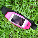 Sports Outdoor Gym Waist Phone Case For iPhone 6 6s For iPhone 7 Plus Screen Card Holder Earphone Hole Belt Running Wallet Bags