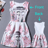 Vestido de festa 2017 Summer Dress Women Brand Sleeveless Casual Dresses Ladies vintage print plus size women jacquard clothing