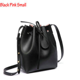 Women Shoulder Bag Famous Brand Bucket Bag Drawstring Bucket Bag Crossbody Messenger Handbag with Small Pouch