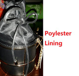 bag - Fashion accessories ,clothing, jewelry, Famous Brand Women's Fashion Handbags Bucket Black PU Metal String Evening Clutches Party Clutch Bag Shoulder Bag Crossbody Bags - clothing, Gorgeous things online - gorgeous things online