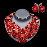 Lan palace nigerian wedding african beads jewelry set hot sale Austrian crystal necklace and earrings for wedding new arrival
