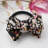 Hot Selling Hair Accessories Korean Gum for Hair Bowknot Elastic Hair Bands For Women Floral Bowknot Scrunchy For Hair Jewelry
