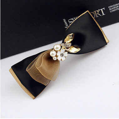 high quality 2016 new fashion korean style hairpins silk satin ribbon bows hairpins hair clips for women hair accessories