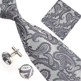 Fashion 40 Styles Gravata Tie Hanky Cufflink Sets 100% Silk Neckties Ties for Mens Business Wedding Party Free Shipping