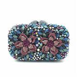 ForUForM  oval luxury evening clutch bags Handcraft crystal clutch purse diamante women party evening bags handbags LI-1573
