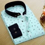 - Fashion accessories ,clothing, jewelry, Brand Print Men Shirt Long-sleeve Shirt Slim Fit Casual Shirts Fashion Men's Clothing Casual Camisa Masculina Floral Dress Shirt - clothing, Gorgeous things online - gorgeous things online