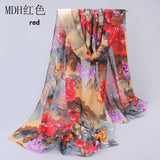 from india hot sale 2017 new women for 4 seasons scarves polka velvet chiffon bohemia flower fashion summer free shipping mdh