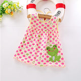Monkids Summer Baby Girl Sleeveless Dress Princess Dot Newborn Striped Dresses Baby Girls Clothes with Animal Floral Cartoon