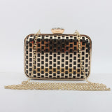 New metal net high-end hand bag exquisite banquet dinner Bag Shoulder Messenger Bag Clutch