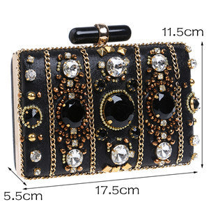 bag - Fashion accessories ,clothing, jewelry, 2017 Fashion Beaded Women Clutches Handmade Full Diamond Bridal Bag Wedding Party Chain Shoulder Black Evening Clutch Bag L288 - clothing, Gorgeous things online - gorgeous things online