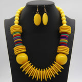 New 6 Colors African Acrylic Beads Jewelry Sets Indian Earring Necklace Women Party Wedding Jewelry Sets