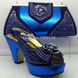 High Quality Matching Italian Shoes and Bag Set African Style Shoes and Bag Set Italy Matching Shoes and Bag for African Party