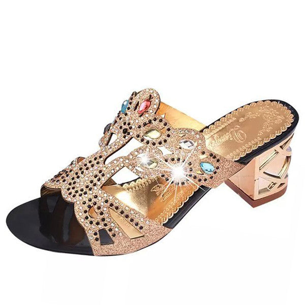 slip on - Fashion accessories ,clothing, jewelry, Ekoak Size 35-41 New 2016 Fashion Summer Shoes Woman Rhinestone Cut-outs High Heel Sandals Ladies Party Shoes Women Slippers L35 - clothing, Gorgeous things online - gorgeous things online