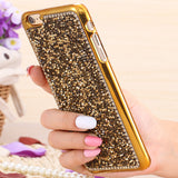 KISSCASE Case For iPhone 6 6S Plus Full Body Glitter Bling Rhinestone Diamond Crystal Plating Back Cover For Apple iPhone 6 6S