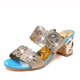 slip on - Fashion accessories ,clothing, jewelry, Ekoak 2016 New fashion rhinestone cut-outs women sandals Square heel Party summer shoes woman high heel sandals with Butterfly - clothing, Gorgeous things online - gorgeous things online