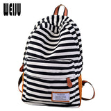 New 2017 Canvas Women Backpack Fashion Casual Striped Printing Backpacks Korean Travel Women Bag Size 40*29*13cm YA0350