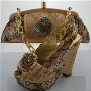 Italian shoe with matching bag with applique lady shoe and bag to match set good sale african shoe and bag set she and bag set