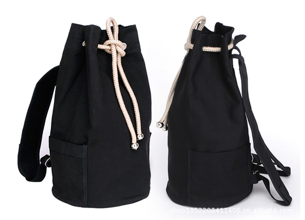 unisex canvas bag backpack bag leisure withdraw bucket bag travel bag