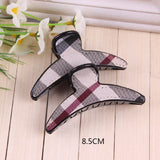 Fashion butterfly Plaid hair Claws women Headwear brand girls hair clips Lady hair accessories Children Hairbands